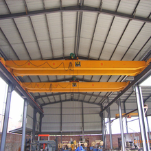 LH workshop trolley double girder overhead crane price