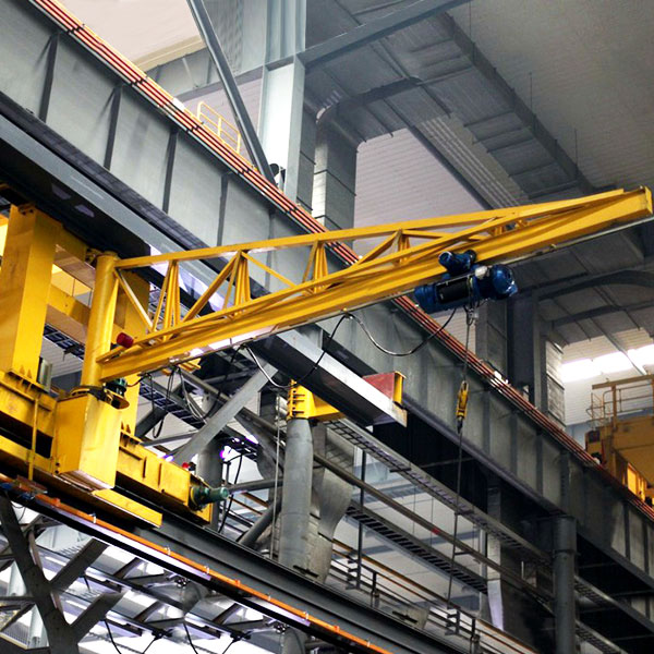 Industrial workshop use wall mounted movable jib crane