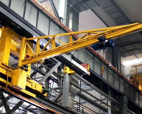 Safe operating procedures for wall slewing crane (jib crane)