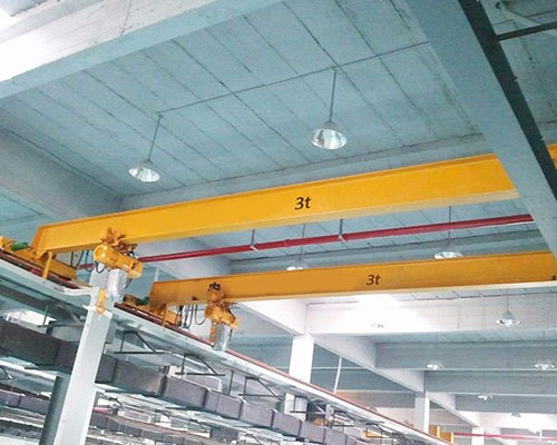So that the bridge crane can be used in the open warehouse